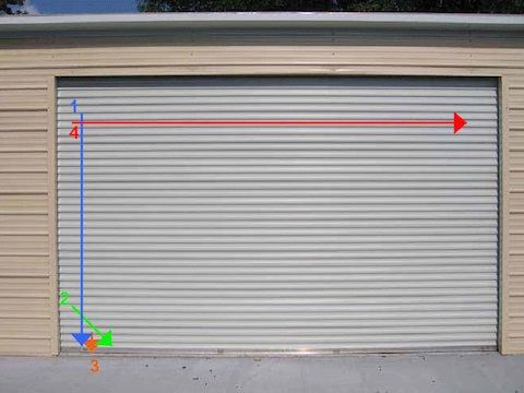 Chris Johnson From Concord (NH) Sent In This Writeup On Using The Four Cut  Method For Opening Roll Up Doors. There Are A Number Of Different Methods  That ...