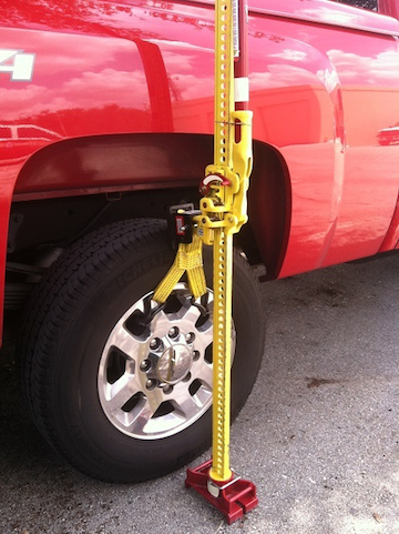 Using Th Tow Hooks For Hi Lift Jacking 2014 Jeep